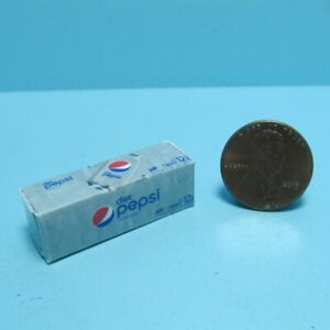 Dollhouse Miniature Replica Diet Pepsi Soda Box / Case