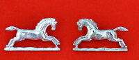 British Army. Queen's Royal Hussars Genuine Collar Badges
