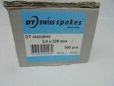 DT Swiss Spokes 2.0 x 228MM Plain Gauge Silver Sold As A Pair