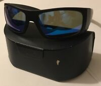 RARE Pablo Beach Ocean Waves Polarized Sunglasses Offshore Blue Lens Black Frame