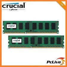 Crucial 16GB DDR3 1600Mhz Memory 2x 8GB High Performance Desktop RAM 1.35v 12800