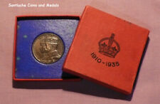1935 OFFICIAL KING GEORGE V SILVER JUBILEE MEDAL IN SILVER WITH BOX OF ISSUE