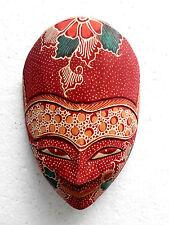 Masque Bois Oriental/Asiatique Wayang Topeng Batik Bali, TPB17