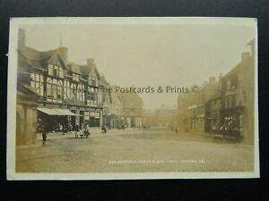 Staffordshire UTTOXETER Market Place East c1905 RP Postcard by A. McCann (Local)