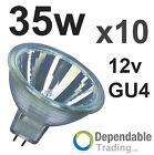 Lot de 10 -MR11 35w Halogène Reflecteur / Ampoule 12v - GU4 - 35mm