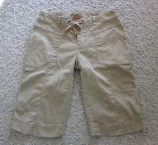 Women's NORTH FACE Hiking Pants Olive Green Cotton Stretch 4 Pockets Capris 10