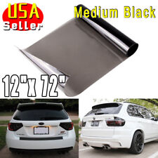"12""x72"" Black Smoke Glossy Tint Film Vinyl Cover Headlight Taillight Fog Light"