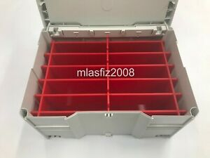 Tanos Systainer T-LOC SYS 3 sandpaper organizer insert in red (Festool) NEW