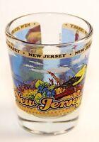 NEW JERSEY STATE WRAPAROUND SHOT GLASS SHOTGLASS