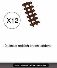 10x Lego Placa Vermelho Transparente 1x2 Novo!!! 3023