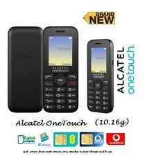 Alcatel 1016 ONETOUCH 10.16d Brand new Unlocked (Black) Basic dual sim phone