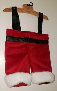 Jingles & Joy Plush Velour Santa Trousers 2 Bottle Gift Bag for Wine