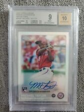 2015 Topps Chrome Refractor Michael Taylor ROOKIE RC AUTO 38/499 #ARMT BGS 9