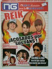 revista NUEVA GENERACION  reik  #15 incluye poster de  tatu y rebelde