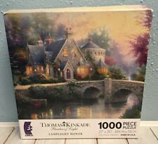 NEW & SEALED * THOMAS KINKADE LAMPLIGHT MANOR 1000 PIECE JIGSAW PUZZLE *