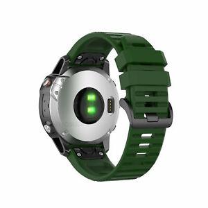 For Garmin Fenix 6X / 6 / 6 Pro Sport Silicone Watch Band Strap 22/26mm Bracelet