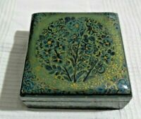 Good Looking Jewellery Box With Lacquered Hand Painted Decoration