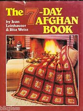 7 Day Afghan Knit Crochet Book Pattern 1985 Quick Baby Family Grannies Ripples