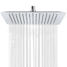 """12"""" Shower Head Brushed Nickel Finish Stainless Steel Rainfall Shower Square"""