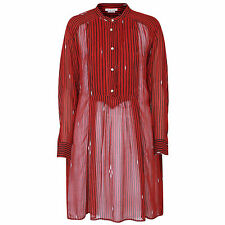 ISABEL MARANT ETOILE sheer red striped summer caftan shirt dress 36-FR/4-US NEW