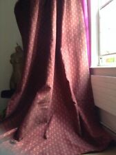 Claret red heavy curtains Fully lined and thermal black out. Two only Chelsea!!
