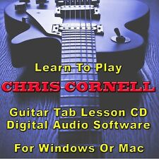 CHRIS CORNELL Guitar Tab Lesson Tablature CD Software - 18 Songs