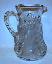 Rare & Beautiful Antique Millersburg Hobstar & Feather Pattern Crystal Pitcher