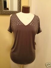 CYNTHIA ROWLEY STUDDED KNIT BLOUSE SIZE SMALL NWT