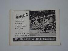 advertising Pubblicità 1947 GARELLI MOSQUITO