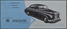 MG Magnette 1954 eight page NA brochure - HTC 7-5-54