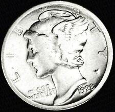 1928-d Mercury Dime.Better Grade (Inv.A)