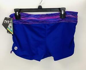 TYR Womens Cyprus Della Boyshort Swimsuit Bottom ~Size XL (14/16)- Pink/Purple