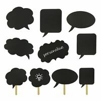 10 X Party Prom Birthday Fun Selfie Personalised Photo Booth Speech Bubble Props