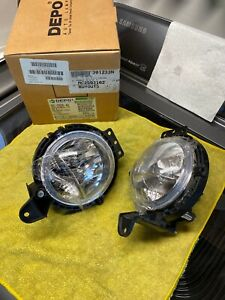 DEPO 08-11 Mini Cooper / Cooper S Replacement Fog Lights Set Left + Right 3D