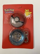 NEW Blastoise Pokemon Tin Dangle Metal Pokeball Keychain 1999 Vintage