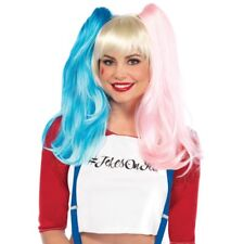 Leg Avenue  Blonde Wig With Detachable Pink and Blue Pigtails Multi One Size