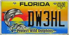 Florida License Plate,  Original  Nummernschild  USA  DW3HL  ORIGINALBILD