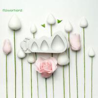 Moule à Cake En Silicone Rose Cônes Et Épines Rosebud Forme Gâteau Fondant DLTÁÍ