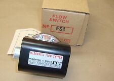 "NEW McDonnell & Miller FS1 Flow Switch ITT 1/2"" NPT FS-1 Enclosure NEMA 1 113200"