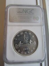 Canada 1948 $1 SIlver Dollar NGC MS62 Graded - Mintage of 18,780!