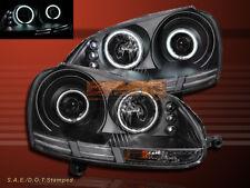 2006-2009 Black Housing VW GTI/Jetta/Rabbit Dual CCFL Halo Projector Headlights