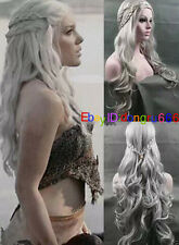 Daenerys Targaryen Dragon Princess Game of Thrones Braids cosplay wigs + wig cap
