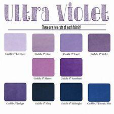 "Cuddle Cakes Ultra Violet, Twenty(20) - 10 x 10"" Minky Squares, Layer Cake"