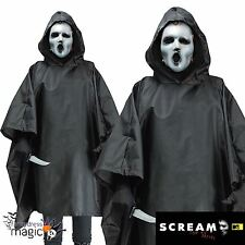 Mens Ghostface Scream TV Series Killer Poncho Halloween Fancy Dress Costume Mask