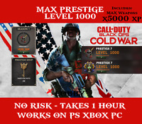 Call of Duty Black Ops Cold War MAX Prestige Master lvl 1000 - Prestige Shop Key