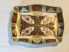Abbeydale bone china footed dish trinket tray, chrysanthemum pattern, England