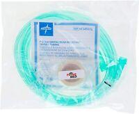 Green Crush-Resistant Oxygen Nasal 7 Feet Tubing w/Standard Connector 10Pk