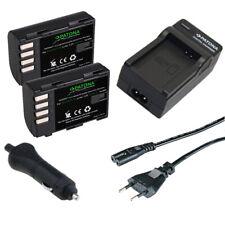 2x Batteria Patona + caricabatteria casa/auto per Panasonic DMW-BLF19E