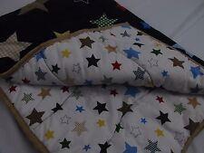 Circo crib bedding Quilt Blanket stars pattern cotton blend navy blue EUC