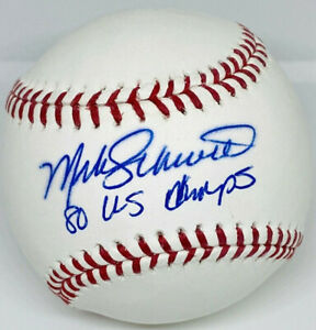 "Phillies Mike Schmidt Signed ""80 WS Champs"" Baseball MLB and Fanatics Hologram"